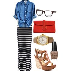 """how to wear a maxi dress into the fall---""""Relaxed Office Wear"""" by emilylovessparkles on Polyvore"""