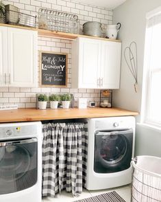 Today is my Friday and I'm pretty freakin excited about it! My college daughter is coming home for the weekend tonight so… Laundry Decor, Laundry Room Remodel, Laundry Room Organization, Laundry Room Design, Laundry In Bathroom, Basement Laundry, Laundy Room, Farmhouse Laundry Room, Farmhouse Decor