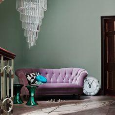 Bring Some Glamour To Your Home With These Design Ideas - Sofa Workshop Flur Design, Sofa Design, Interior Design, Design Room, Mirrored Furniture, Art Deco Furniture, Purple Furniture, 1930s Decor, Sofa Workshop