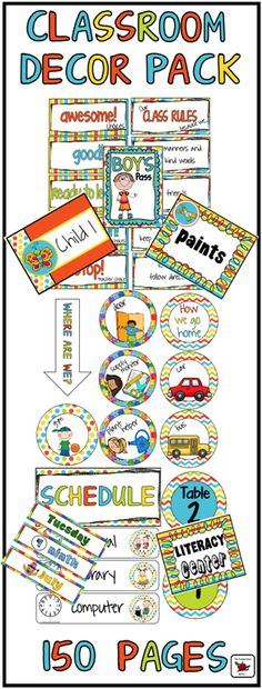 HUGE Classroom Decor Bundle. Class Rules, Clip Chart, Jobs, How we get home, Where we are, Schedule, loads of labels and more! Great value! ($)
