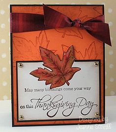 Thanksgiving card design from Discount Cardstock card designer Jeanne Streiff