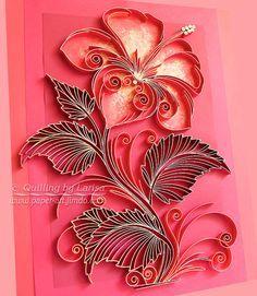 Original Paper Quilling Wall Art The Scarlet by QuillingbyLarisa Neli Quilling, Paper Quilling Flowers, Paper Quilling Patterns, Quilled Paper Art, Quilling Paper Craft, Diy Paper, Paper Crafts, Flower Paper, Flower Art