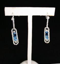 Aquamarine and diamond kokoshnik earrings