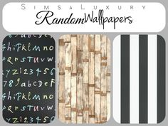 Random wallpapers Set 1 at Sims4 Luxury via Sims 4 Updates