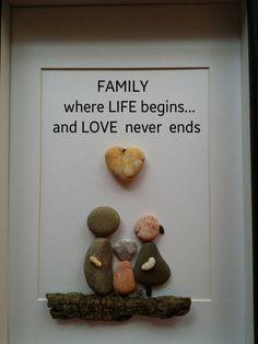 Pebble art Pebble family art family of by madebynatureandme