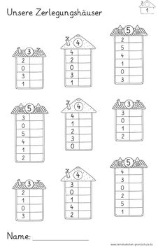 Math Addition Worksheets, First Grade Math Worksheets, School Worksheets, Teaching Subtraction, Teaching Math, Math Pages, Preschool Education, Kindergarten Math Activities, Montessori Math