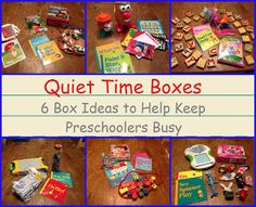 Encourage. Play. Learn.: Quiet Time Boxes