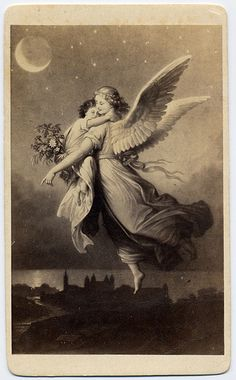 No More Melancholy — Guardian Angel Vintage Illustration, Illustration Mode, Angels Among Us, Angels And Demons, Your Guardian Angel, Guardian Angel Tattoo, I Believe In Angels, Angels In Heaven, Cherub