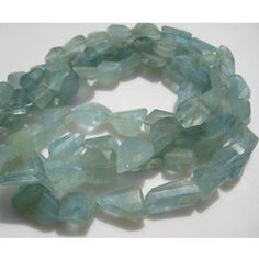 Aquamarine Beads  Aquamarine Faceted Nugget Beads by gemsforjewels, $52.60