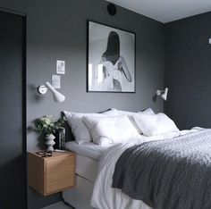 99 White And Grey Master Bedroom Interior Design Grey Bedroom Design, Master Bedroom Interior, Gray Bedroom, Modern Bedroom, Bedroom Wall, Bedroom Ideas Grey, Bedroom Designs, Bed Room, Grey Interior Design