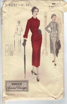 Vintage 1950's Women's Dress Sewing Pattern by AtomicRegeneration, $16.57
