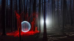 """""""The ball of light"""", by our Light Art Ambassador, Denis Smith! This shot is amazing, we love it! #photography #lightart"""