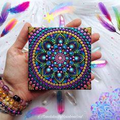 Mandala Canvas, Mandala Painting, Dot Painting, Mandala Art, Stone Painting, Spiritual Decor, Mandala Rocks, Rock Painting Designs, Hand Painted Ornaments