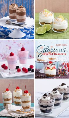 Glorious Layered Desserts Cookbook from Kennedy Treats Layered Desserts, Mini Desserts, Summer Desserts, Sweet Desserts, Just Desserts, Delicious Desserts, Dessert Recipes, Yummy Food, Potluck Recipes