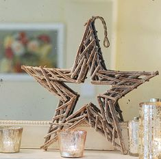"""Search Results for """"label/Christmas"""" Twig Crafts, Driftwood Crafts, Wreath Crafts, All Things Christmas, Christmas Holidays, Christmas Crafts, Christmas Ornaments, Christmas Star, Wood Stars"""