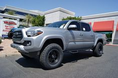 "2016 Toyota Tacoma TRD Sport Silver | Traxda 3"" Front & 1"" Rear Leveling Kit 