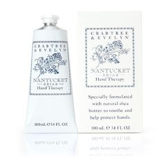 Crabtree and Evelyn make the BEST Hand cream. I've used it for years, but Nantucket Briar is my choice for fragrance and body lotion. Very soft floral / powdery notes. Nantucket, Hand Therapy, Cosmetic Design, Perfume, Hand Lotion, Body Lotion, Hand Care, Shea Butter, Body Care