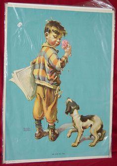 Vintage Frances Tipton Hunter Print Me and my pal by soulmansplace,