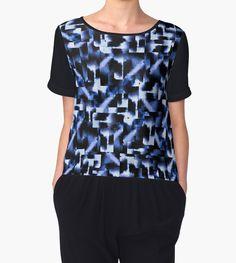 Shattered Nights by amayabrydon @redbubble #art #abstract #blue #navy #artist #geometric #squares #night #dark #decor #design #blues #indigo #interiordesign #design #home #homedecor #sea #fashion #chic #chiffon #shirt