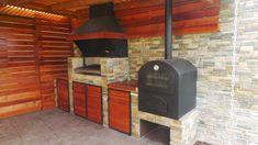 PERGOLAS Y QUINCHOS Outdoor Kitchen Grill, Backyard Kitchen, Outdoor Kitchen Design, Backyard Patio, Outdoor Patio Designs, Outdoor Decor, Barbacoa, Outdoor Living, Bbq