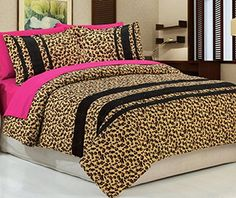 Cheetah Print Bedroom Decor Office And Bedroom in proportions 1440 X 1440 Pink Leopard Print Bedroom Ideas - Almost every little girl wants to become a pri Bedroom Comforter Sets, Queen Bedding Sets, Bedroom Sets, Bedroom Decor, Wall Decor, Bedrooms, Cheetah Print Bedroom, Leopard Print Bedding, Pink Bedspread