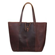 Polare Rustic Looking First Grain Cowhide Leather Tote Handbag Purse Everyday Bag ** Learn more by visiting the image link.Note:It is affiliate link to Amazon.