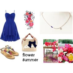 """""""Flower Summer"""" by rere2111 on Polyvore"""