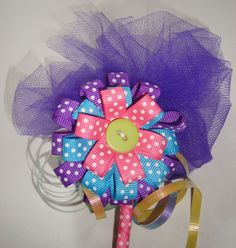 Lovely fairy birthday party barrette! #dteam