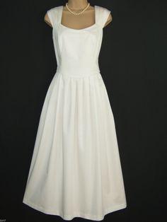 Laura Ashley Vintage Summer White Wedding Occasion Dress Jacket Suit 16