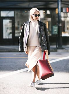 Edgy Elegance: 7 Ways To Make A Biker Jacket Sophisticated (The Edit) Fashion Gone Rouge, Fashion Mode, Love Fashion, Elegance Fashion, Fashion Tips, Fashion Trends, Cute Fall Outfits, Simple Outfits, Winter Outfits