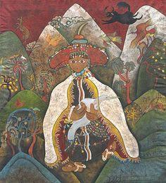 Rimo by Dedron. Contemporary Tibetan artist. http://www.asianart.com/exhibitions/gendun/dedron/3.html#