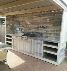 Outdoor kitchen design ideas / bar - Find and save ideas about Outdoor kitchen Ideas on steeringnews.com | See more ideas about Outdoor kitchen layout , Outdoor Kitchen Floor Plans and How to Build Modern Outdoor Kitchen #outdoorkitchens #summerkitchen
