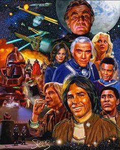 Battlestar Galactica by Mark Spears Star Trek Enterprise, Star Trek Voyager, Sci Fi Movies, Horror Movies, Battlestar Galactica 1978, Tv Show Games, Classic Sci Fi, Firefly Serenity, Comic Games