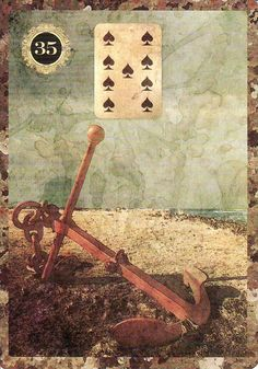 The Anchor, from the Malpertuis Lenormand. https://lifeofhimm.wordpress.com/2015/02/14/learning-the-lenormand-straight-from-the-cards/