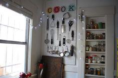 Kitchen pegboard organizer #storage #organization