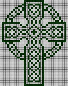 Celtic Cross, grid pattern,  filet crochet                              …