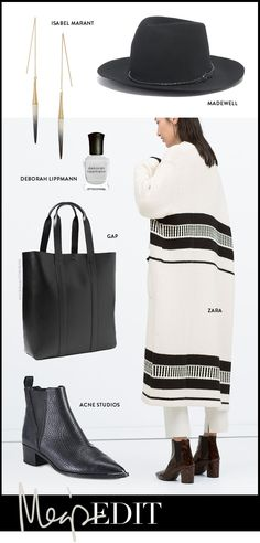 black & off white outfit Monochrome Fashion, 2014 Trends, White Outfits, Fashion Outfits, Womens Fashion, Off White, What To Wear, Style Me, Zara