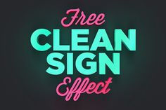 Turn any texts, symbols, or logos into a modern depth dimensional display with this freeClean Sign Photoshop Effect.Thisfree effectsavailable in PSDPhotoshopformat with smart object feature to help you replace the text easily.
