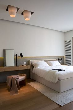 Casa Quindiciquattro Turin on Behance Bedroom Bed, Bedroom Decor, Bedrooms, Tv Decor, Home Decor, Senior Home Care, Diy Entertainment Center, Minimalist Bedroom, Ikea Hacks