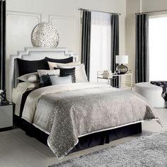 Jennifer Lopez bedding collection Jet Setter Bedding Coordinates   available at Kohls   black & silver