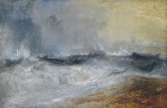 Joseph Mallord William Turner - Waves Breaking against the Wind (c.1840)