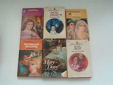 Vintage PB romance 10 book lot red edge harlequin Rachel Lindsay