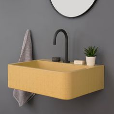 British brand Kast Concrete Basins has unveiled a new series of patterned sink basins called Kast Canvas that explore the possibilities of what concrete can offer with elegant surface patterns.