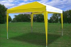 10x10 Pop Up Canopy Party Tent Gazebo EZ CS N  YellowWhite  By DELTA Canopies -- Want additional info? Click on the image.(This is an Amazon affiliate link and I receive a commission for the sales)