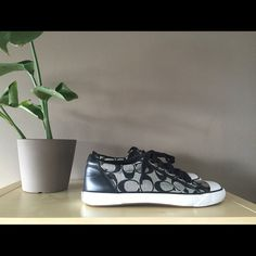 Coach Barrett Sport shoes Fashionable black and grey athletic Coach brand shoes. Extremely comfortable everyday shoes or for working out. Coach Shoes Sneakers