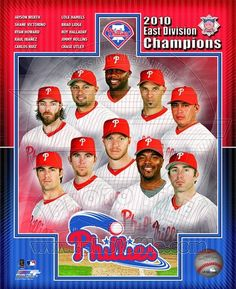 Philadelphia Phillies 2010 NL East Division Champions Composite