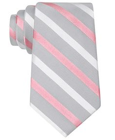 DKNY Tie, Snickerdoodle Stripe - Ties - Men - Macy's
