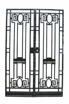 PAIR OF ANTIQUE WROUGHT IRON PEDESTRIAN GATES - UK Architectural Heritage