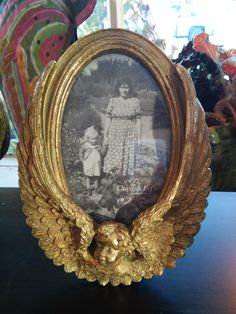 Angel Clayre and Eef picture frame #antiqued #brass #angelic #dutch