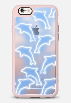 Neon Dolphins iPhone 6s Case by Olga Komasinska | Casetify